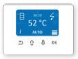 Vesi-õhk soojuspump Estia DHW juhtpaneel